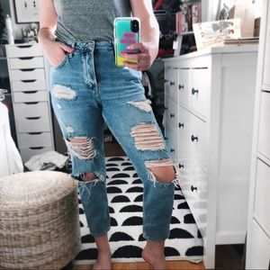 Topshop Moto Hayden ripped holes boyfriend jeans